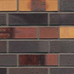 Клинкерный облицовочный кирпич 40 Kobalt Spezial geflammt glatt Muhr