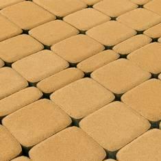 Вибропрессованная тротуарная плитка Классико Медовый BRAER