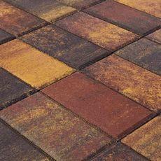 тротуарная плитка Прямоугольник Color Mix Тип 3 Мальва 40 мм BRAER